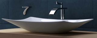 Umywalka ISIN marki Masssi -  umywalka nablatowa z otworem na baterię