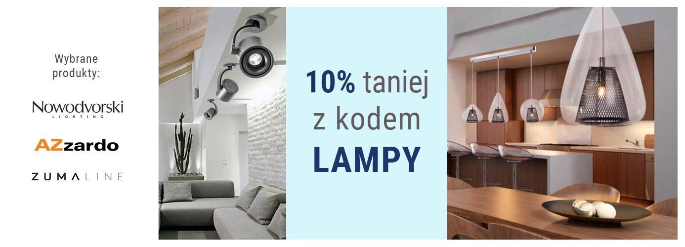 Lampy taniej o 10% - wpisz kod LAMPY w koszyku