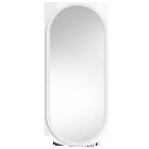 Białe lustra łazienkowe