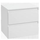 Białe szafki i komody łazienkowe
