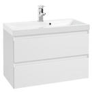 Białe szafki pod umywalkę