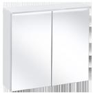 Białe szafki z lustrem