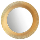 Złote lustra łazienkowe